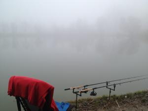 hatalmas köd fogadott, de a hőfokkal nem volt probléma...