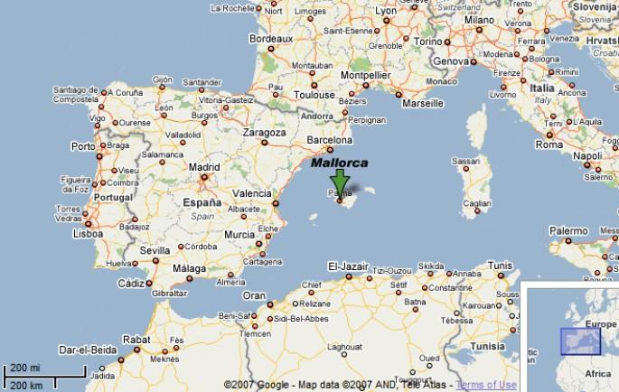 mallorca térkép Levél Mallorcáról   Horgász Zóna Horgászmagazin mallorca térkép