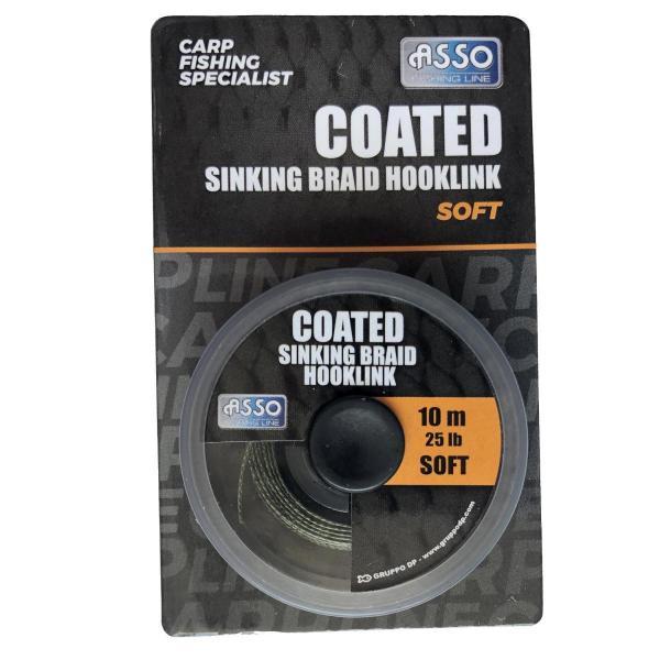 ASSO Classic sinking braid soft 10m 25lbs süllyedő előkezsinór