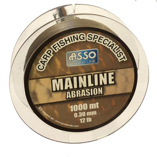 ASSO Carp Mainline Abrasion 0,30mm 1000m barna - pontyozó zsinór