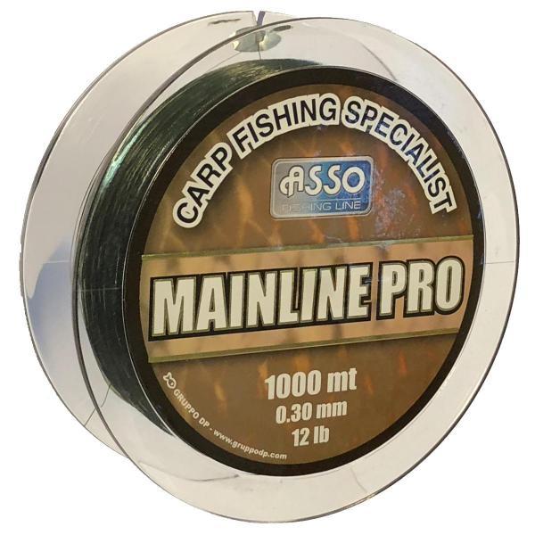 ASSO Carp Mainline Pro 0,28mm 1000m zöld - pontyozó zsinór