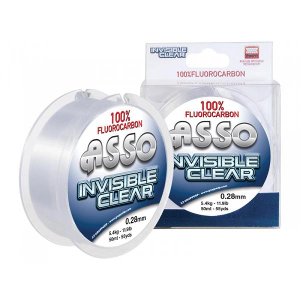 ASSO INVISIBLE CLEAR F.CARBON 50M 0,45 fluorocarbon előke