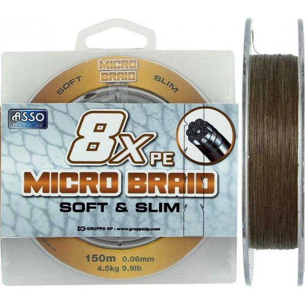 ASSO Micro braid 150m 0,08 pergető zsínór