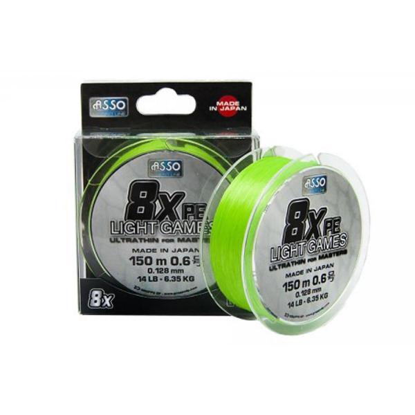 ASSO PE8X light games 150m 0,205mm 13,61kg fonott zsínór
