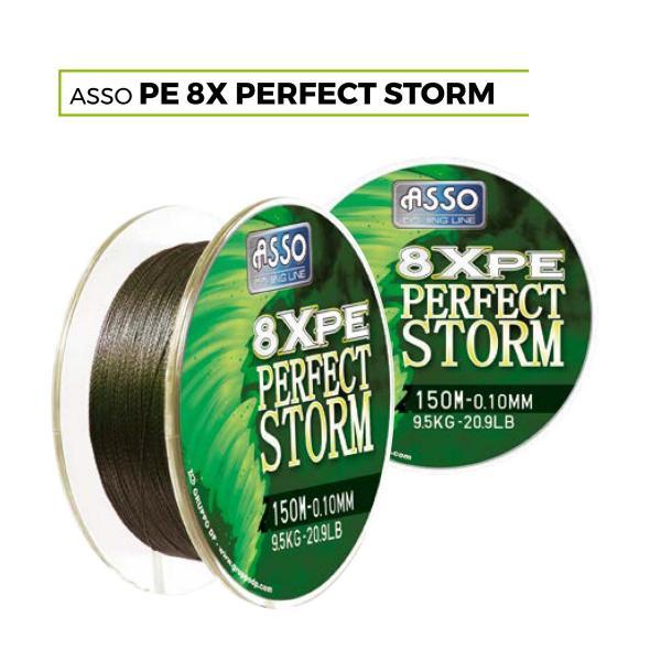 ASSO PE8X perfectstrom 150m 0,08mm 8,60kg fonott zsínór