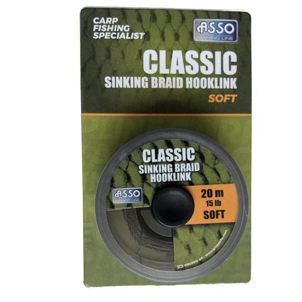 ASSO Pro sinking braid soft 20m 15lbs süllyedő előkezsinór