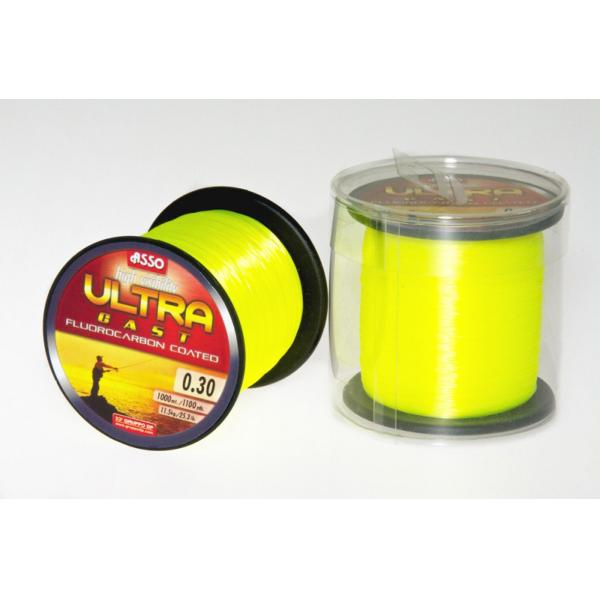 ASSO Ultra Cast 0,36mm/1000m - fluo sárga
