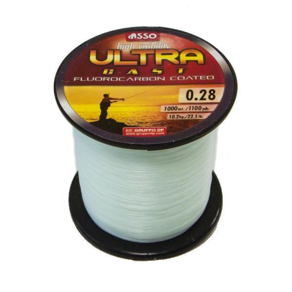 ASSO Ultra cast 1000m 0,30mm/1000m fluocarbon fehér