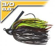 BOOYAH Baby BOO - Black/Brown / Chartreuse - 8,8g-3/0 szoknyás jig