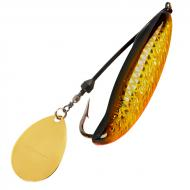 Bomber Who Dat Rattling Spinner Spoon - Gold Black Orange 6,5cm/24g