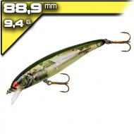 Bomber Long A14 Silver Flash Green Back 8,89cm/10,6g wobbler