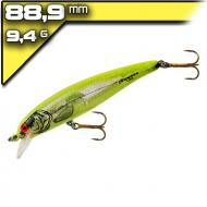 Bomber Long A14 Silver Flash/Chartreuse Back 8,89cm/10,6g wobbler