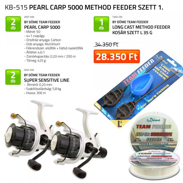 By Döme Pearl Carp 5000 Method Feeder szett