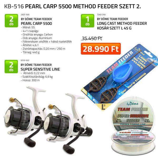 By Döme Pearl Carp 5500 Method Feeder szett