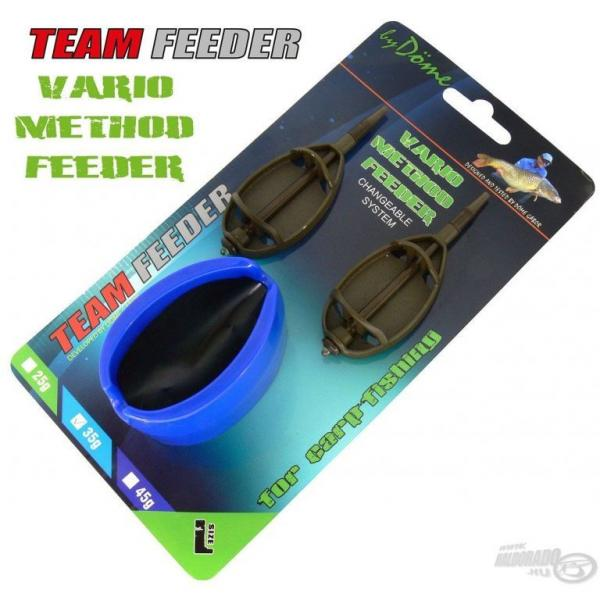 By Döme Team Feeder Vario Method feeder 2+1 szett - 45gr