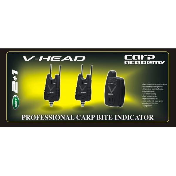 CARP ACADEMY V-Head kapásjelző szett - 2+1