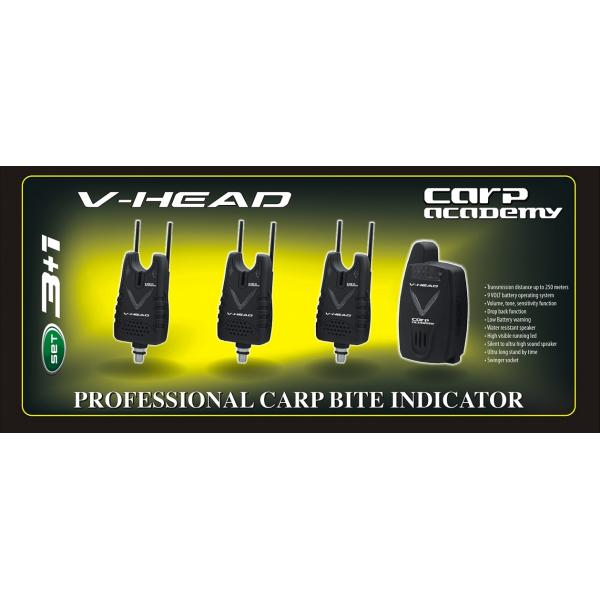 CARP ACADEMY V-Head kapásjelző szett - 3+1