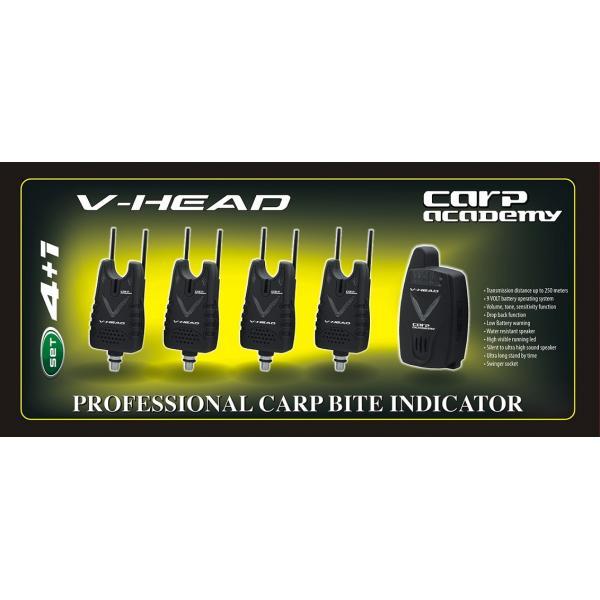 CARP ACADEMY V-Head kapásjelző szett - 4+1
