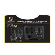 Carp Spirit Elektromos kapásjelző szett HD5 - 2db + adóvevő