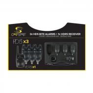 Carp Spirit Elektromos kapásjelző szett HD5 - 3db + adóvevő