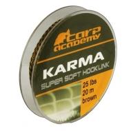 CARP ACADEMY Karma Hooklink előkezsinór 15lb (20m) / Brown