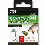 DAIWA Samurai Method előkötött feeder horog tüskével 4-es