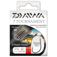 DAIWA TOURNAMENT feeder kötözött horog -  8-as