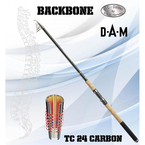 D.A.M Backbone tele 3,3m 80gr teleszkópos horgászbot