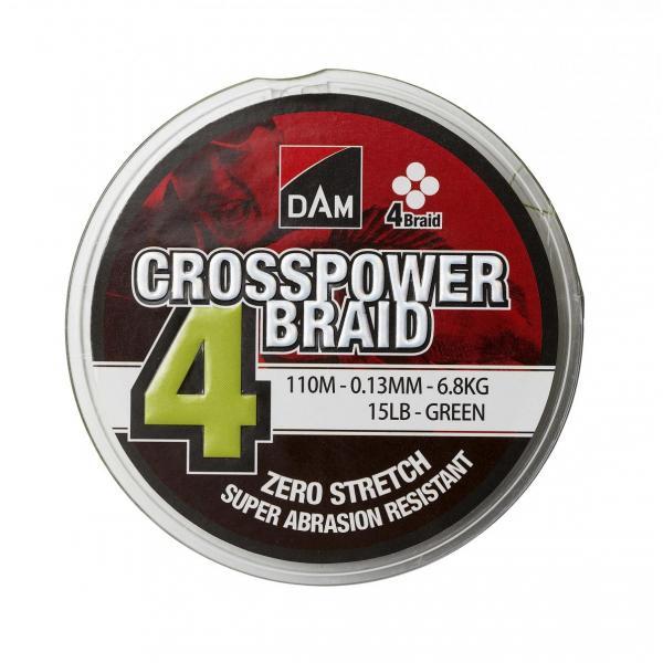 D.A.M Crosspower 4-braid 110m 0,10mm 4,5kg fonott zsínór