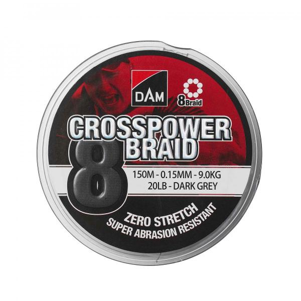 D.A.M Crosspower 8-braid zsínór 150m 0,22mm 13,5kg