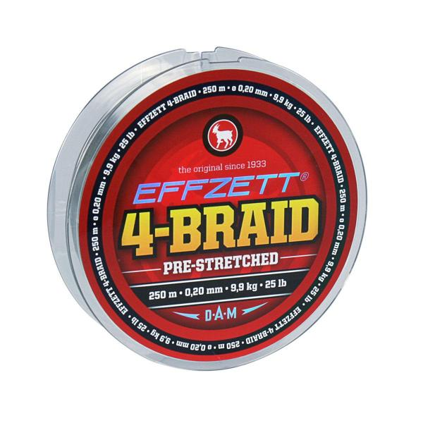 D.A.M Effzett 4- braid 125m 0,25mm 11,3kg