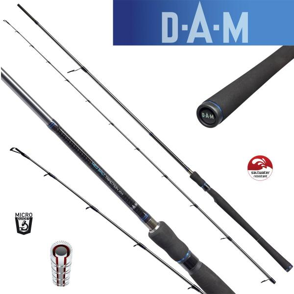 D.A.M Neo salt rock fishing L 2,25m/2,5-10g Ultra Light pergető bot