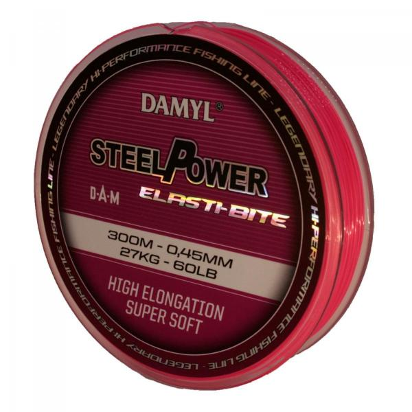 D.A.M Steelpower Elasti-Bite 0,30mm 300m - távdobó zsinór