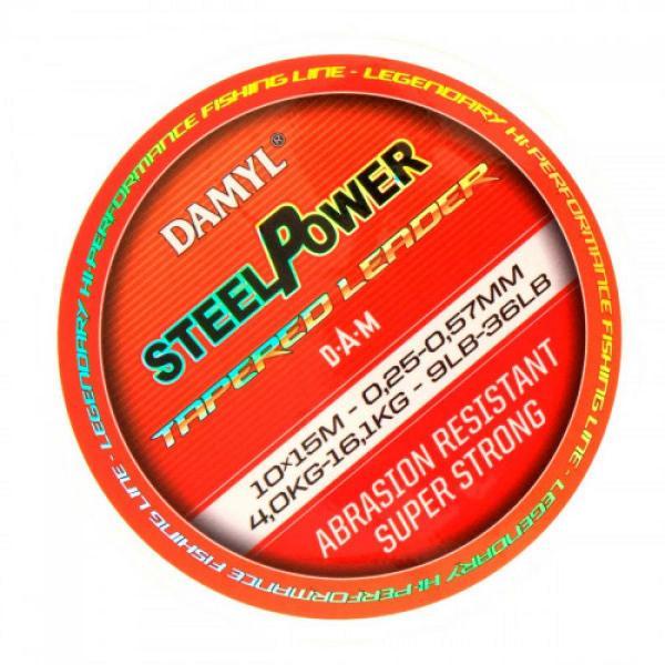 D.A.M steelpower tap.lead.10X15m 0,25-0,57 dobóelőke