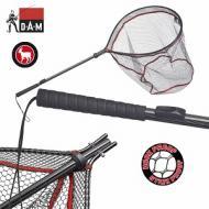 D.A.M Lehajtható fejű merevkeretes merítő gumírozott hálóval