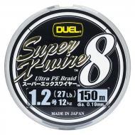 DUEL Super-X 8 - 0,19mm/150m ezüst színű