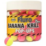 DYNAMITE BAITS Fluro Pop-Up Two Tone bojli - Krill & Banana / 15mm (DY605)