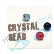 Damiki Crystal Bead 8mm piros üveggyöngy