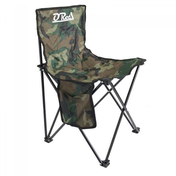 EUROSTAR Háttámlás terepszínű horgász - camping szék