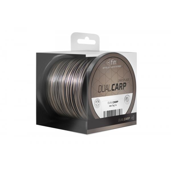 FIN Dual Carp 6300m 0,28mm barna-fekete pontyozó zsinór