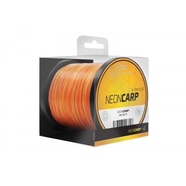 FIN NEON CARP 7200m / sárga-narancs 0,26mm 10,8lbs