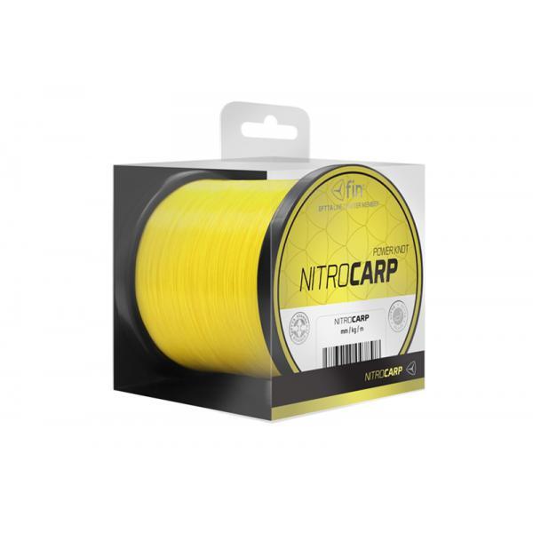 FIN NITRO CARP 5500m / élénk sárga 0,30mm 16,8lbs