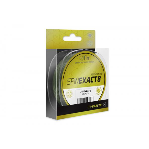 FIN SPIN EXACT8 1250m/green 0,18mm 16,6kg