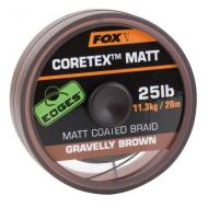 FOX Coretex Matt bevonatos előkezsinór 15lb 20m weedy green