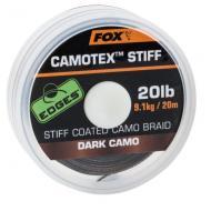 FOX Camotex Dark stiff hámozós előkezsinór 20lbs