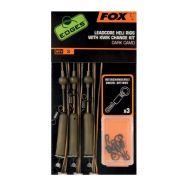 FOX Edges dark camo leadcore heli rig