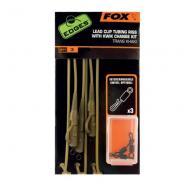 FOX Edges ólomklipszes bojlis végszerelék gubancgátló műanyag csövön