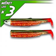 Fiiish Black Minnow 120 Kaki/Red test - Shallow-fej 6g/12cm