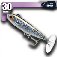 Fiiish Power Tail - Silver Glitter - Slow Action 30mm/2,4g