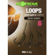 KORDA Loop Rigs 8-as DF Wide Gape X Barbless 18lb 3 db